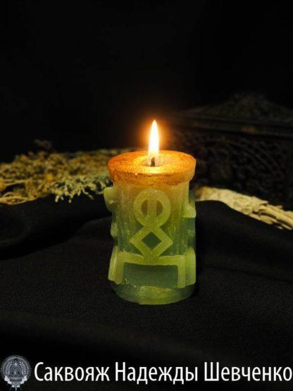 Зеленая руническая колонна «Привлечение клиентов»